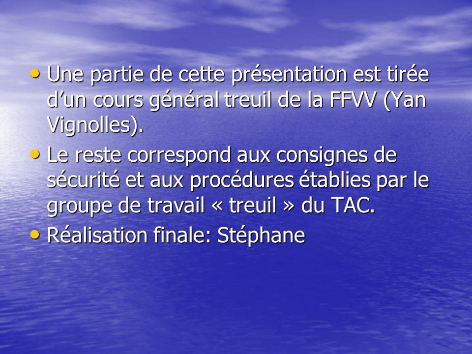 Une partie de cette présentation est tirée d'un cours général treuil de la FFVV (Yan Vignolles).