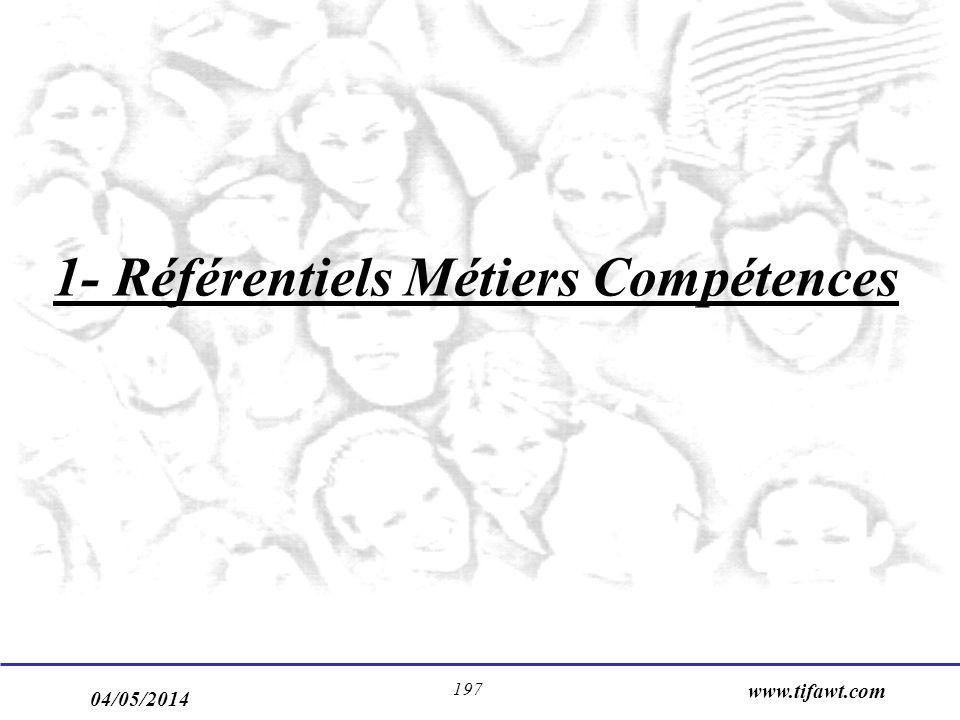 1- Référentiels Métiers Compétences