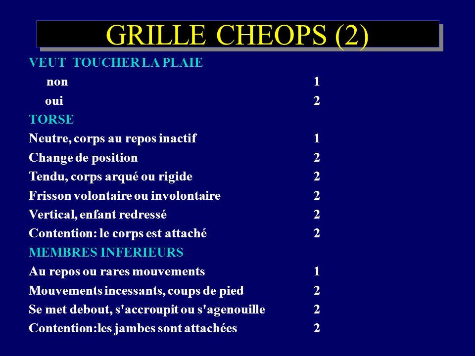 GRILLE CHEOPS (2) VEUT TOUCHER LA PLAIE non 1 oui 2 TORSE