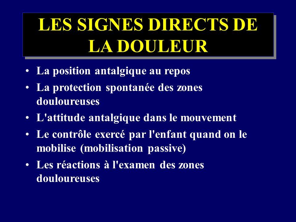 LES SIGNES DIRECTS DE LA DOULEUR