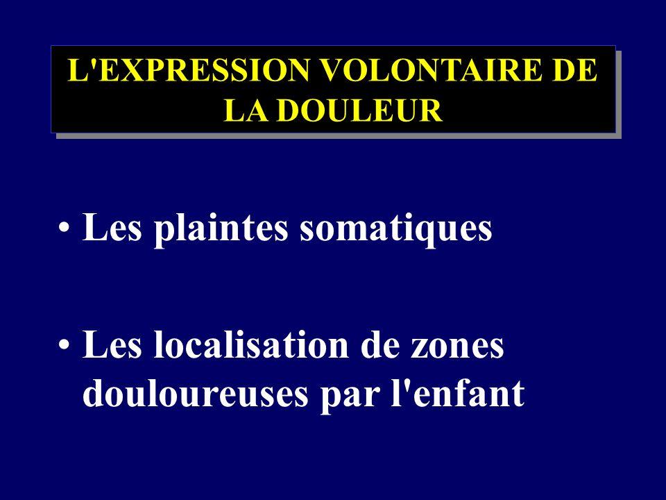 L EXPRESSION VOLONTAIRE DE LA DOULEUR