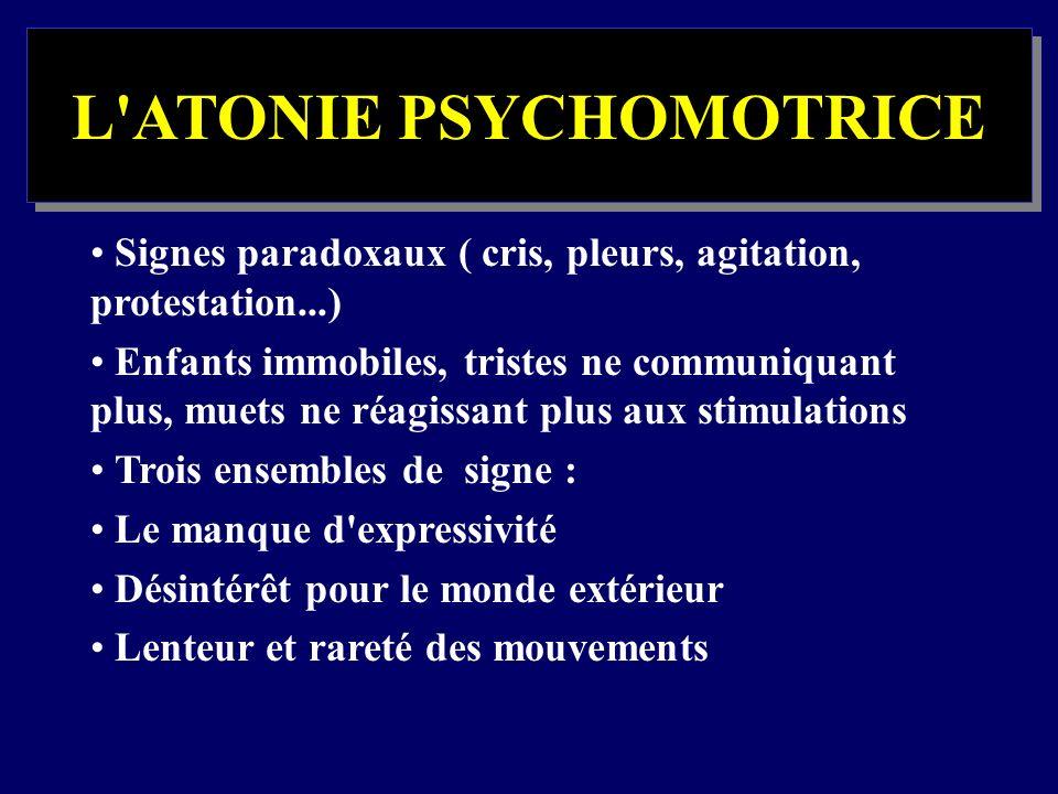 L ATONIE PSYCHOMOTRICE