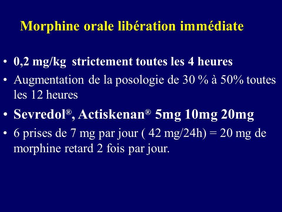 Morphine orale libération immédiate