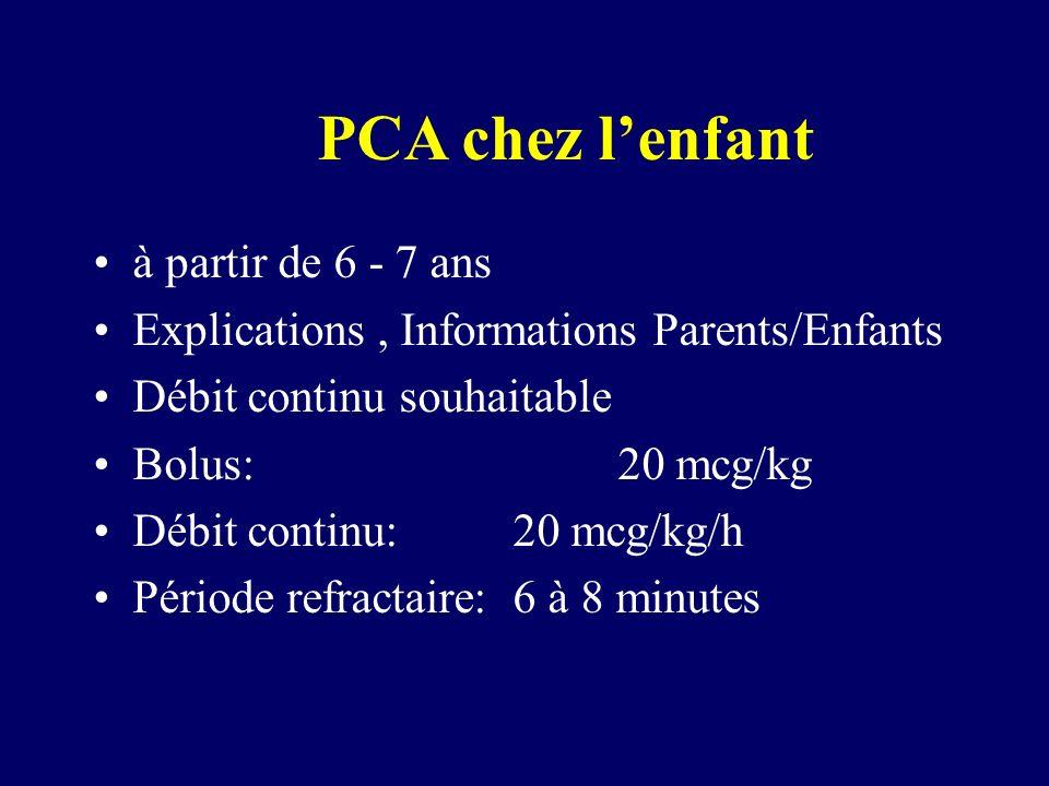 PCA chez l'enfant à partir de 6 - 7 ans