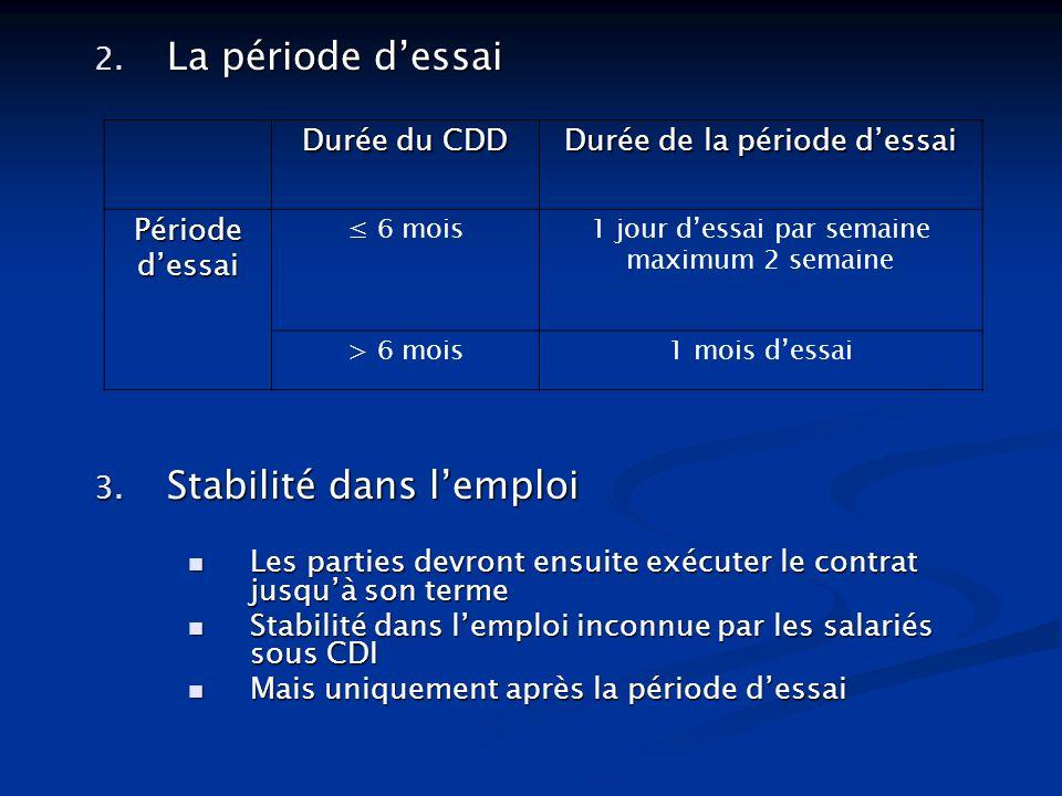 Stabilité dans l'emploi