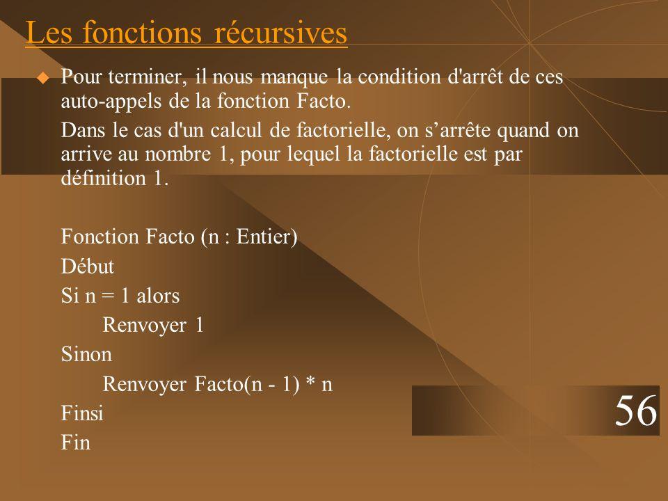 Les fonctions récursives