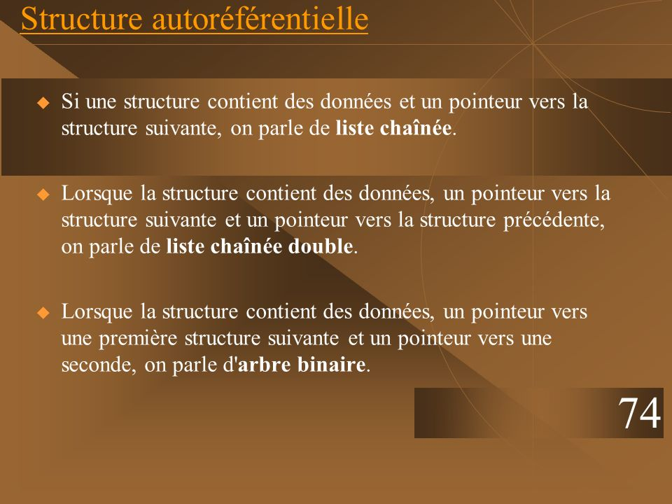 Structure autoréférentielle