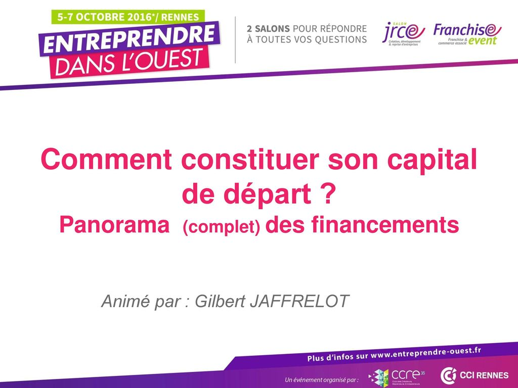 Comment constituer son capital de départ