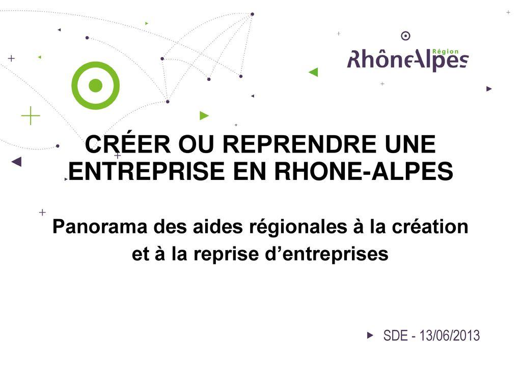 Cr er ou reprendre une entreprise en rhone alpes panorama for Creer une entreprise de service aux entreprises