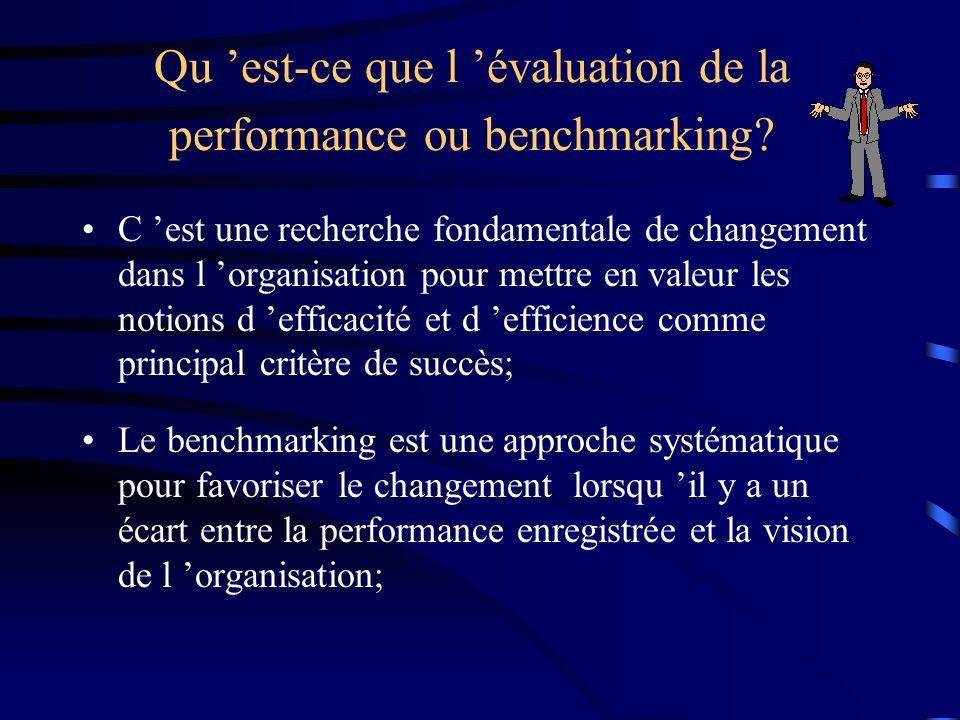 Qu 'est-ce que l 'évaluation de la performance ou benchmarking