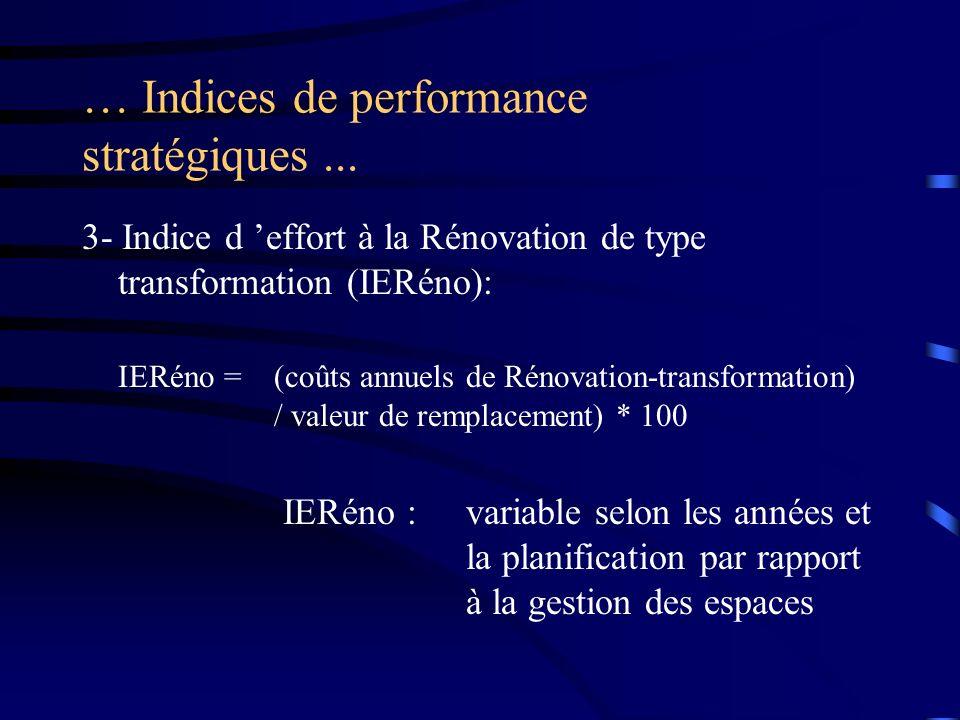 … Indices de performance stratégiques ...