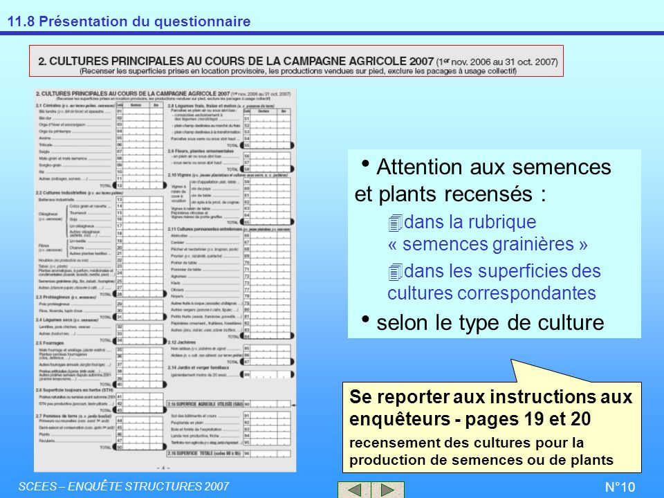 Attention aux semences et plants recensés :