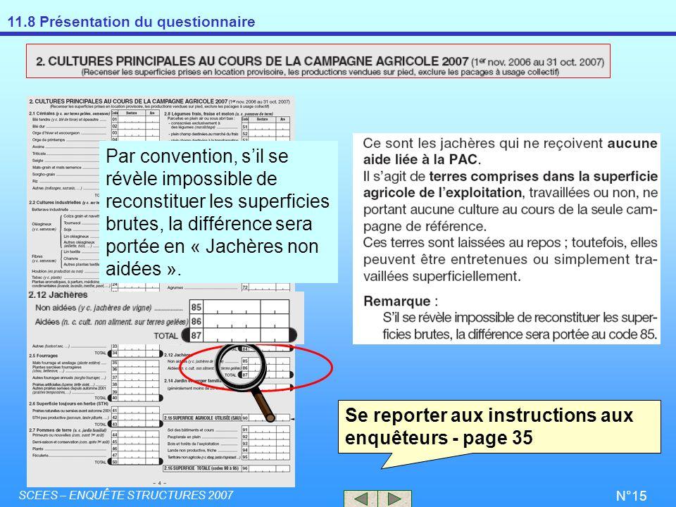 Se reporter aux instructions aux enquêteurs - page 35