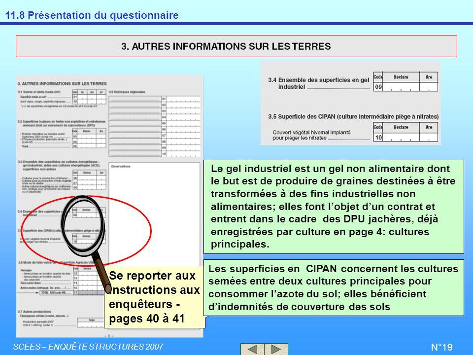 Se reporter aux instructions aux enquêteurs - pages 40 à 41