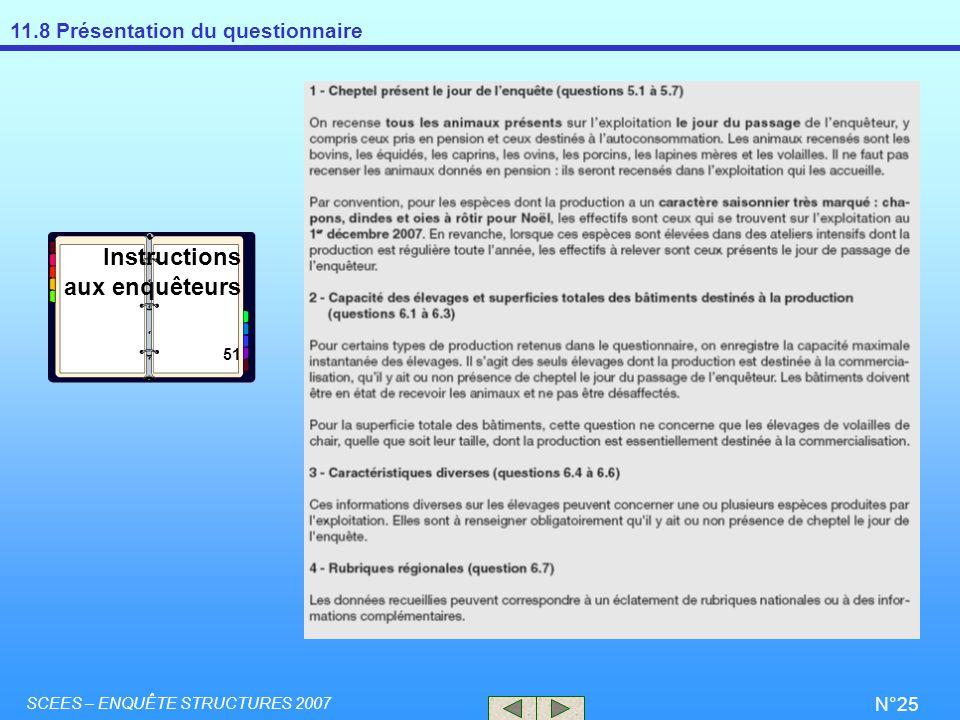 Instructions aux enquêteurs 51 SCEES – ENQUÊTE STRUCTURES 2007