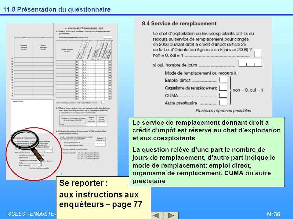 aux instructions aux enquêteurs – page 77