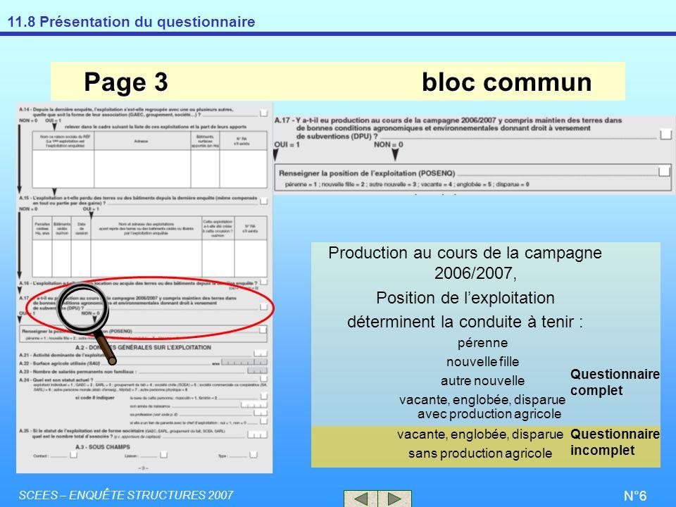 Page 3 bloc commun Production au cours de la campagne 2006/2007,