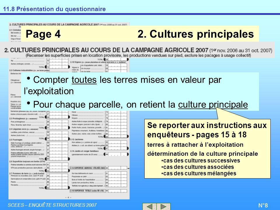 Page 4 2. Cultures principales
