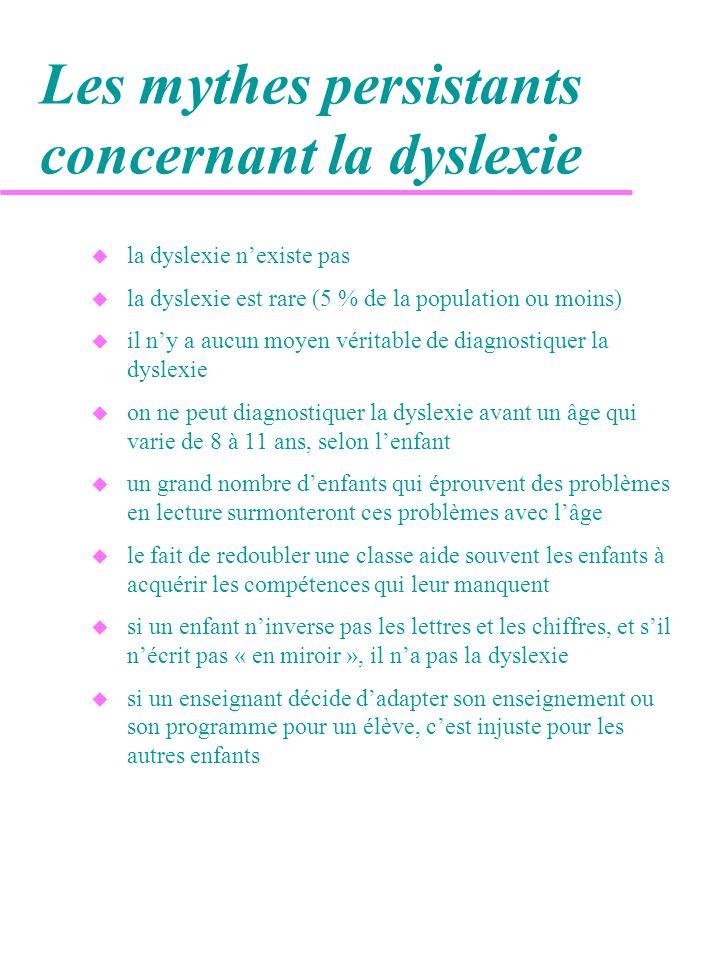 Les mythes persistants concernant la dyslexie