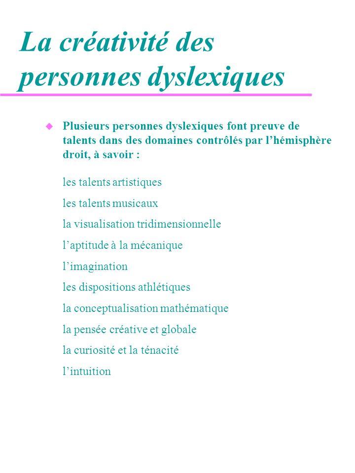 La créativité des personnes dyslexiques