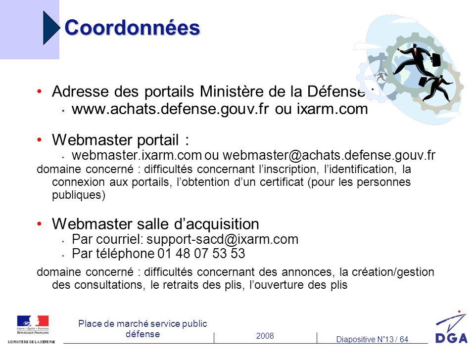 Coordonnées Adresse des portails Ministère de la Défense :