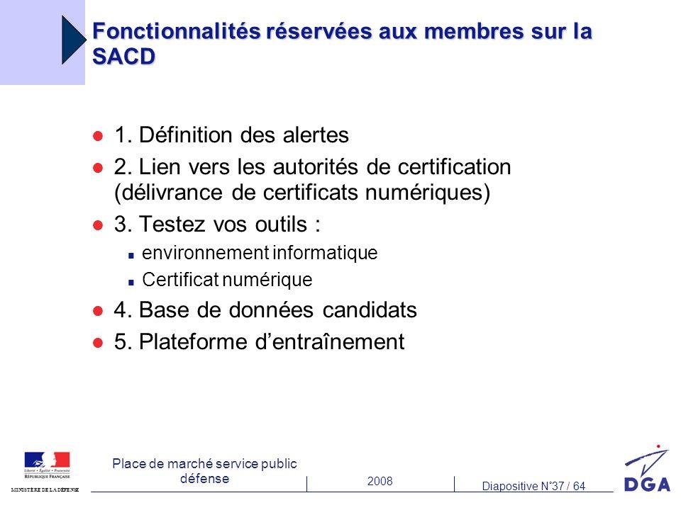 Fonctionnalités réservées aux membres sur la SACD