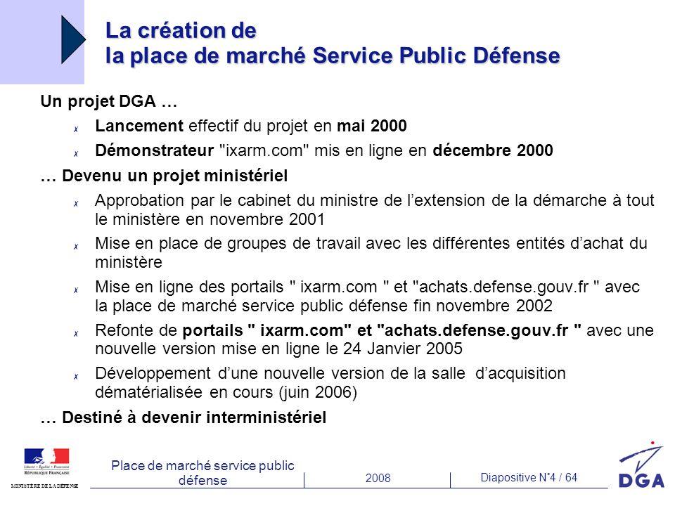 La création de la place de marché Service Public Défense