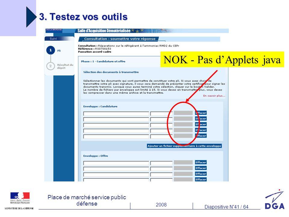 NOK - Pas d'Applets java