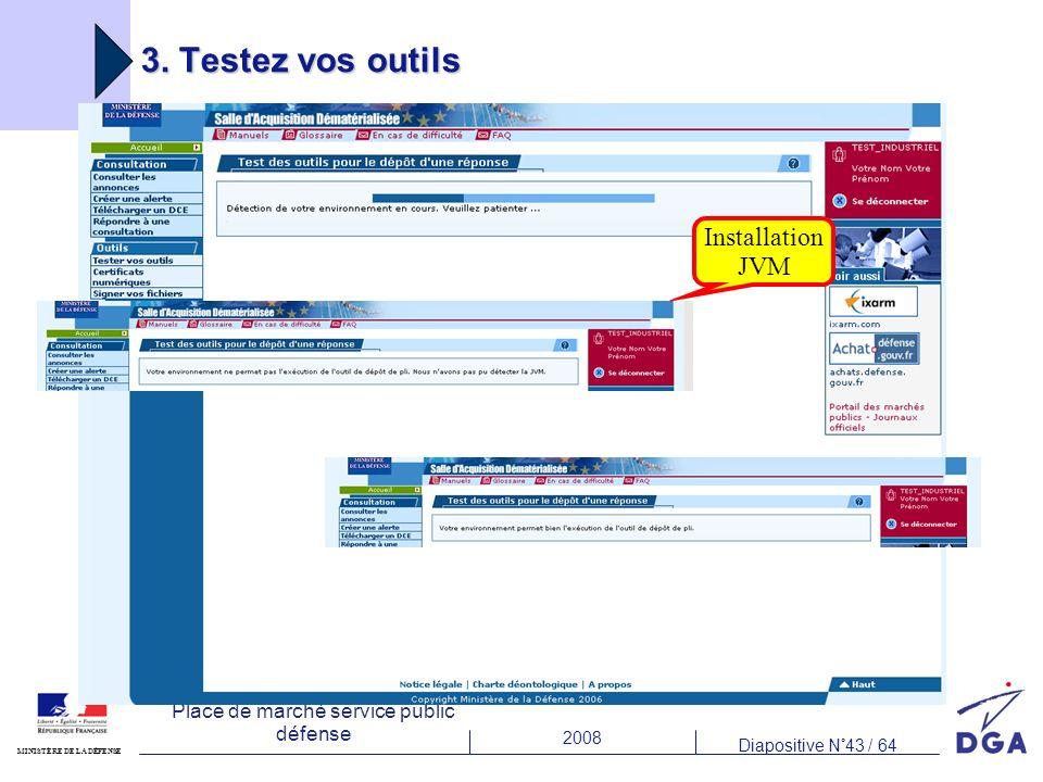 3. Testez vos outils Installation JVM
