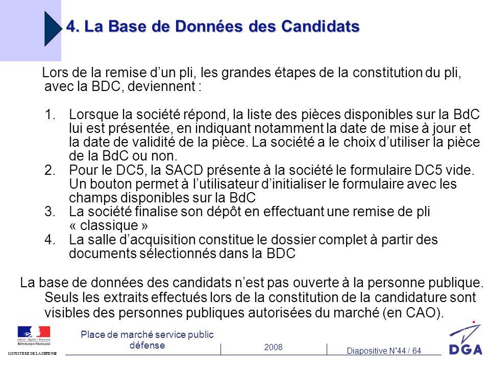 4. La Base de Données des Candidats