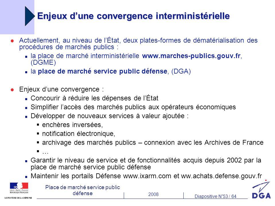 Enjeux d'une convergence interministérielle