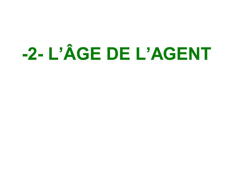 -2- L'ÂGE DE L'AGENT