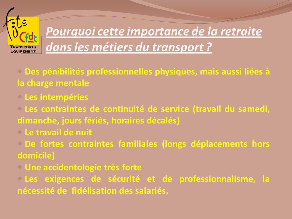 Pourquoi cette importance de la retraite dans les métiers du transport