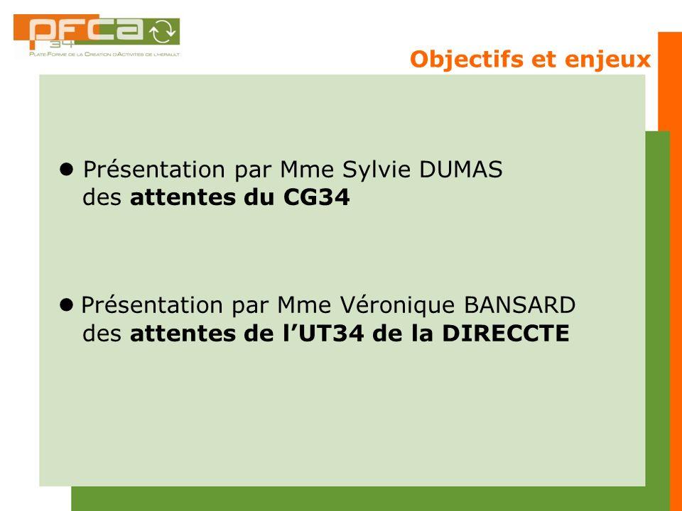  Présentation par Mme Sylvie DUMAS des attentes du CG34
