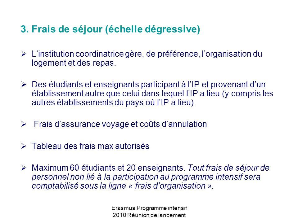 Erasmus Programme intensif 2010 Réunion de lancement