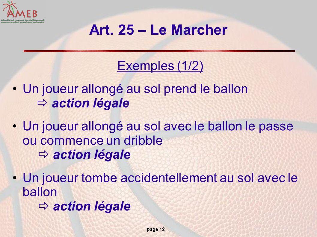 Art. 25 – Le Marcher Exemples (1/2)