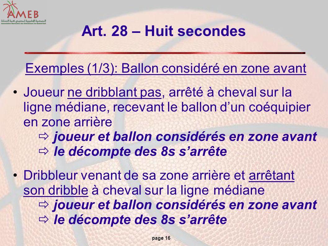 Exemples (1/3): Ballon considéré en zone avant