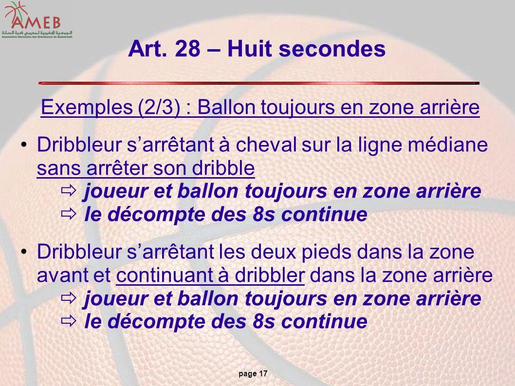 Exemples (2/3) : Ballon toujours en zone arrière