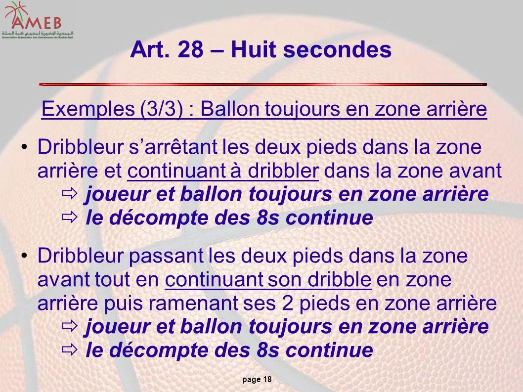 Exemples (3/3) : Ballon toujours en zone arrière