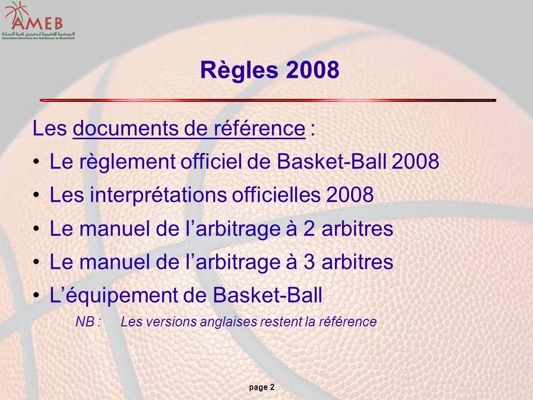 Règles 2008 Les documents de référence :