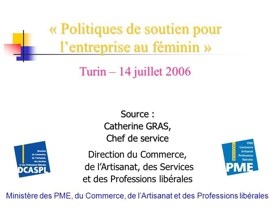 « Politiques de soutien pour l'entreprise au féminin »