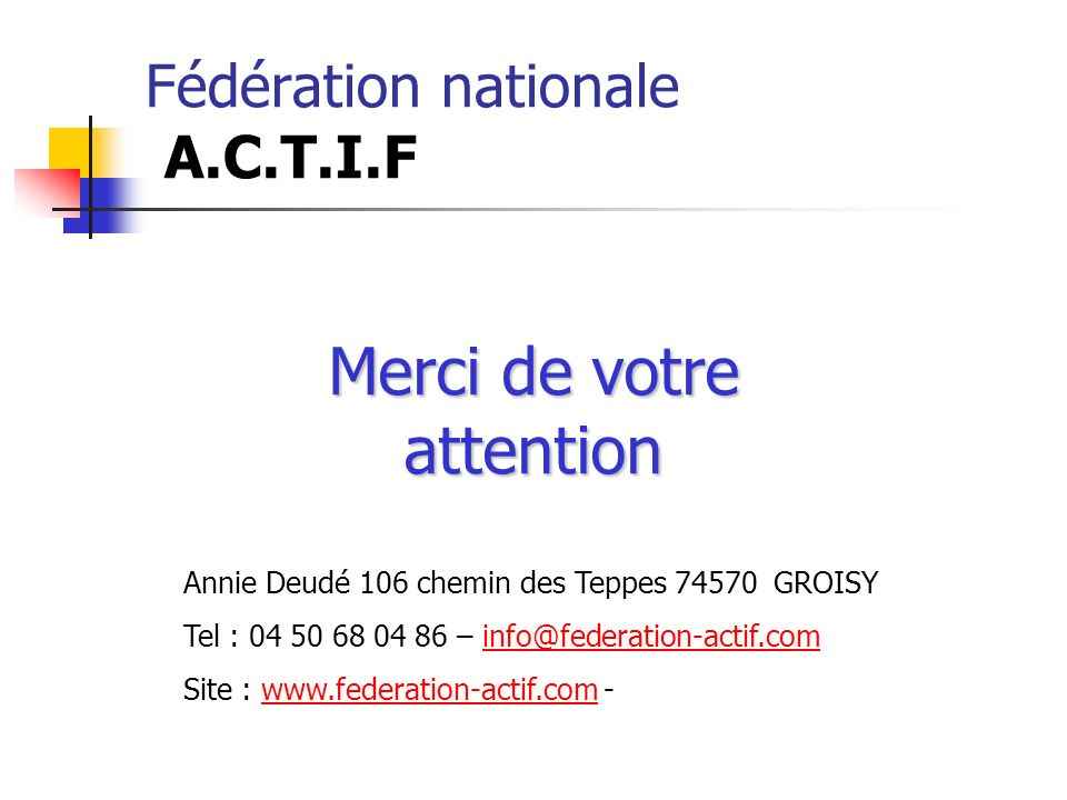 Fédération nationale A.C.T.I.F