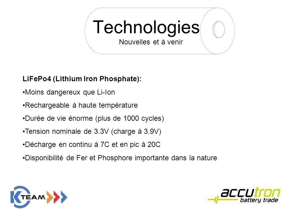 Technologies Nouvelles et à venir LiFePo4 (Lithium Iron Phosphate):