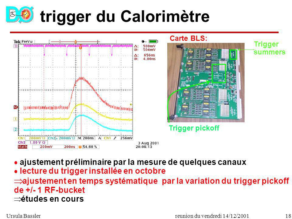 trigger du Calorimètre