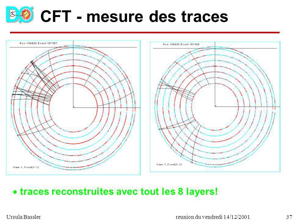 CFT - mesure des traces traces reconstruites avec tout les 8 layers!
