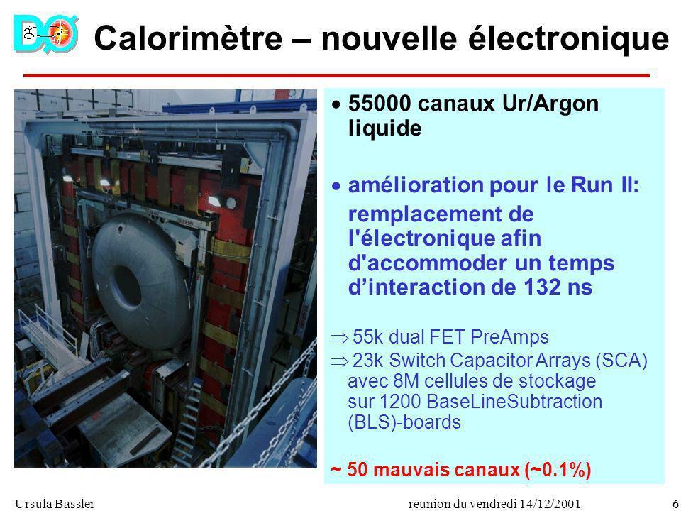 Calorimètre – nouvelle électronique