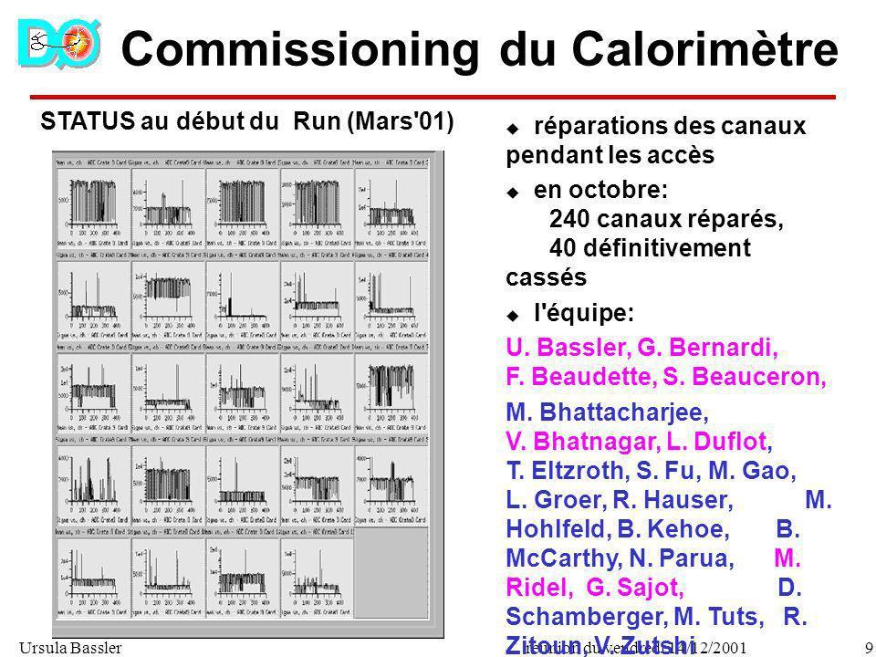 Commissioning du Calorimètre