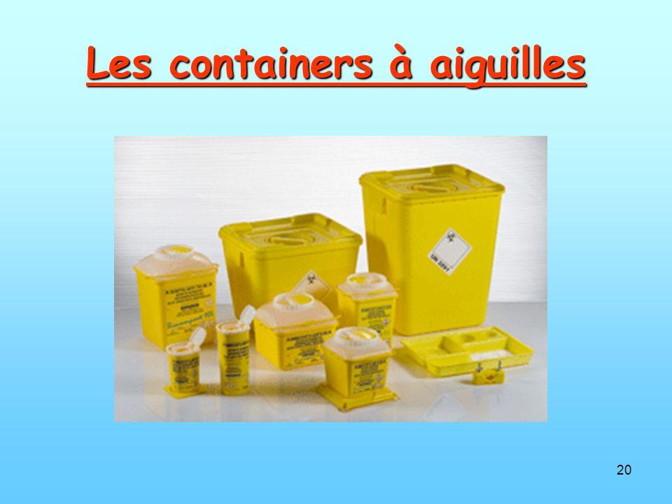 Les containers à aiguilles