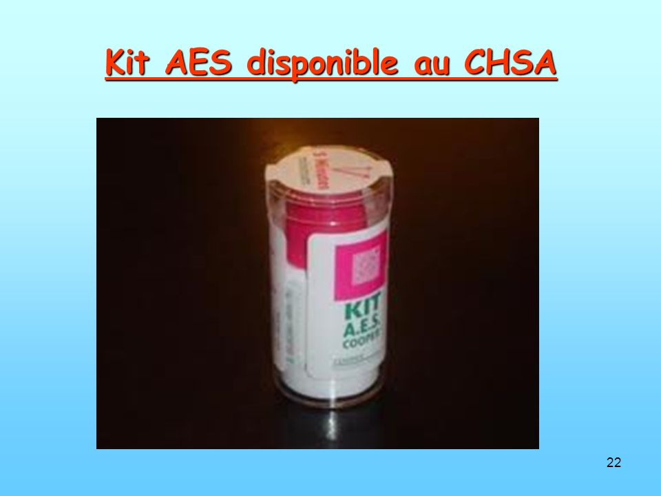 Kit AES disponible au CHSA