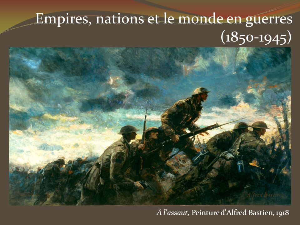 Empires, nations et le monde en guerres (1850-1945)